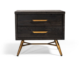 Modrest Tabitha Modern Dark Brown Recycled Pine Nightstand