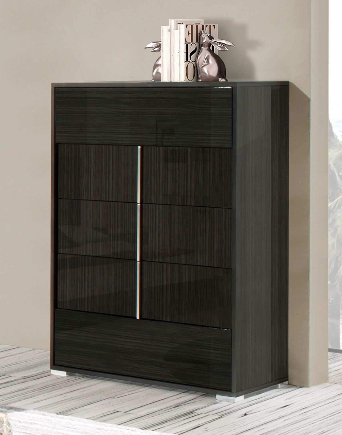 Modrest Ari - Modern Grey Lacquer Chest
