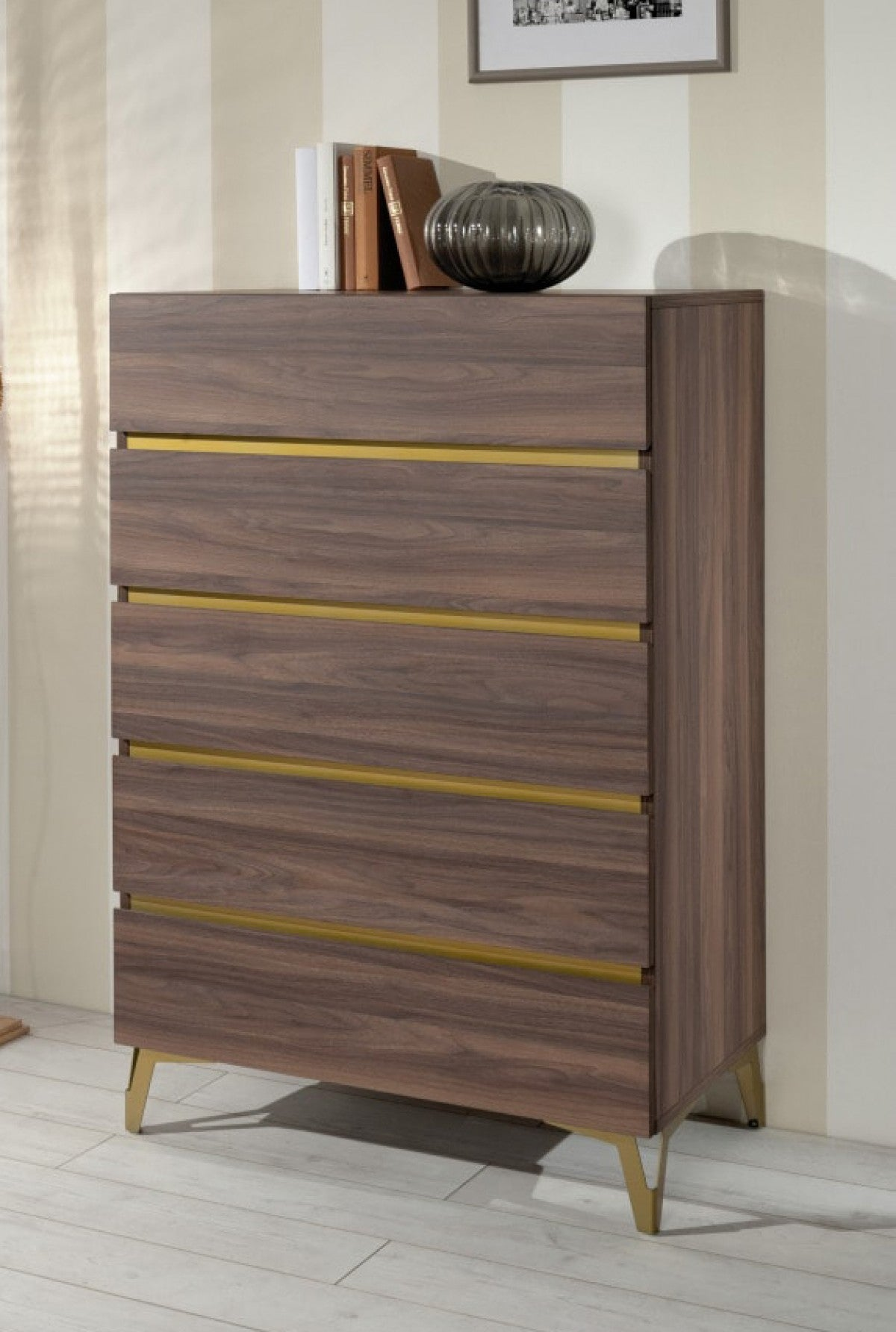 Nova Domus Calabria - Modern Walnut Chest