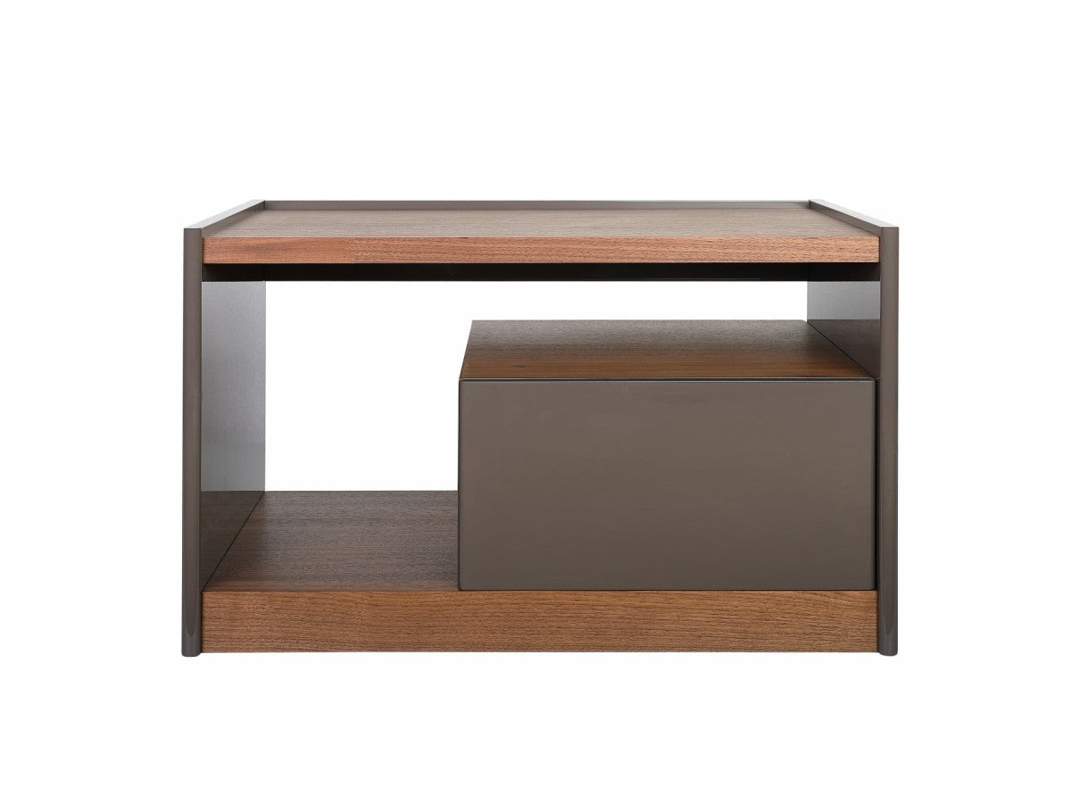 Modrest Tara - Modern Walnut Nightstand