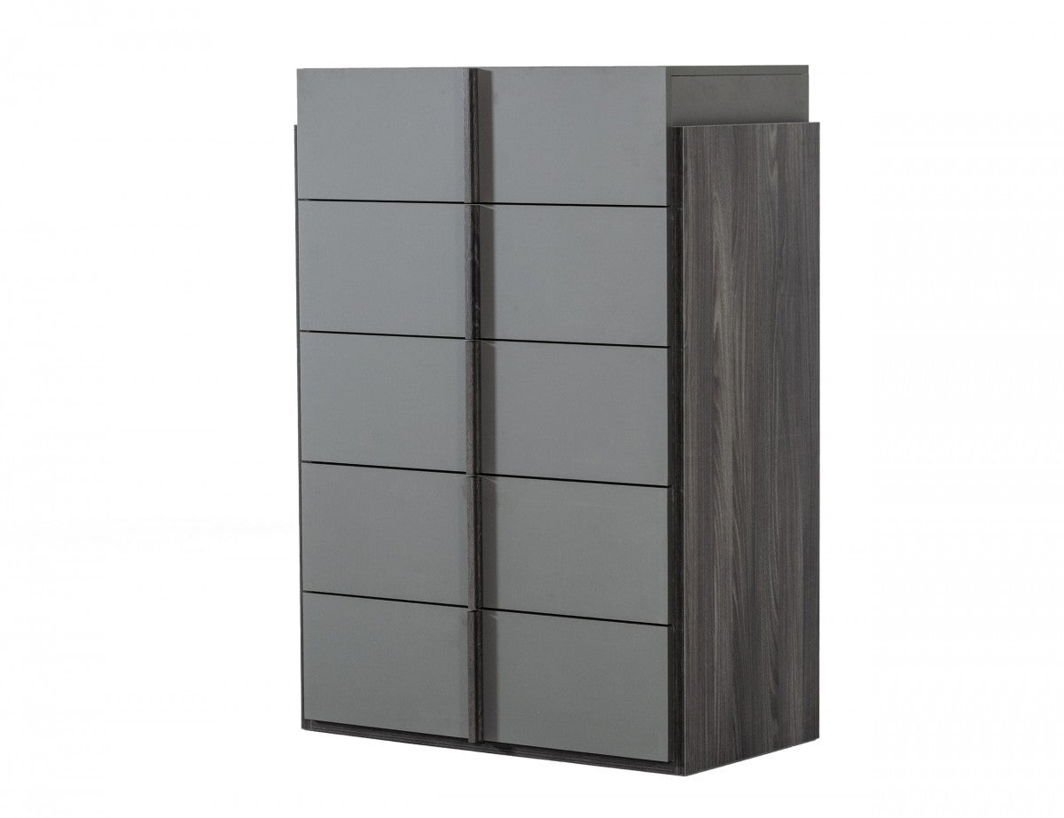 Nova Domus Lucia - Italian Modern Elm and Matte Grey Chest