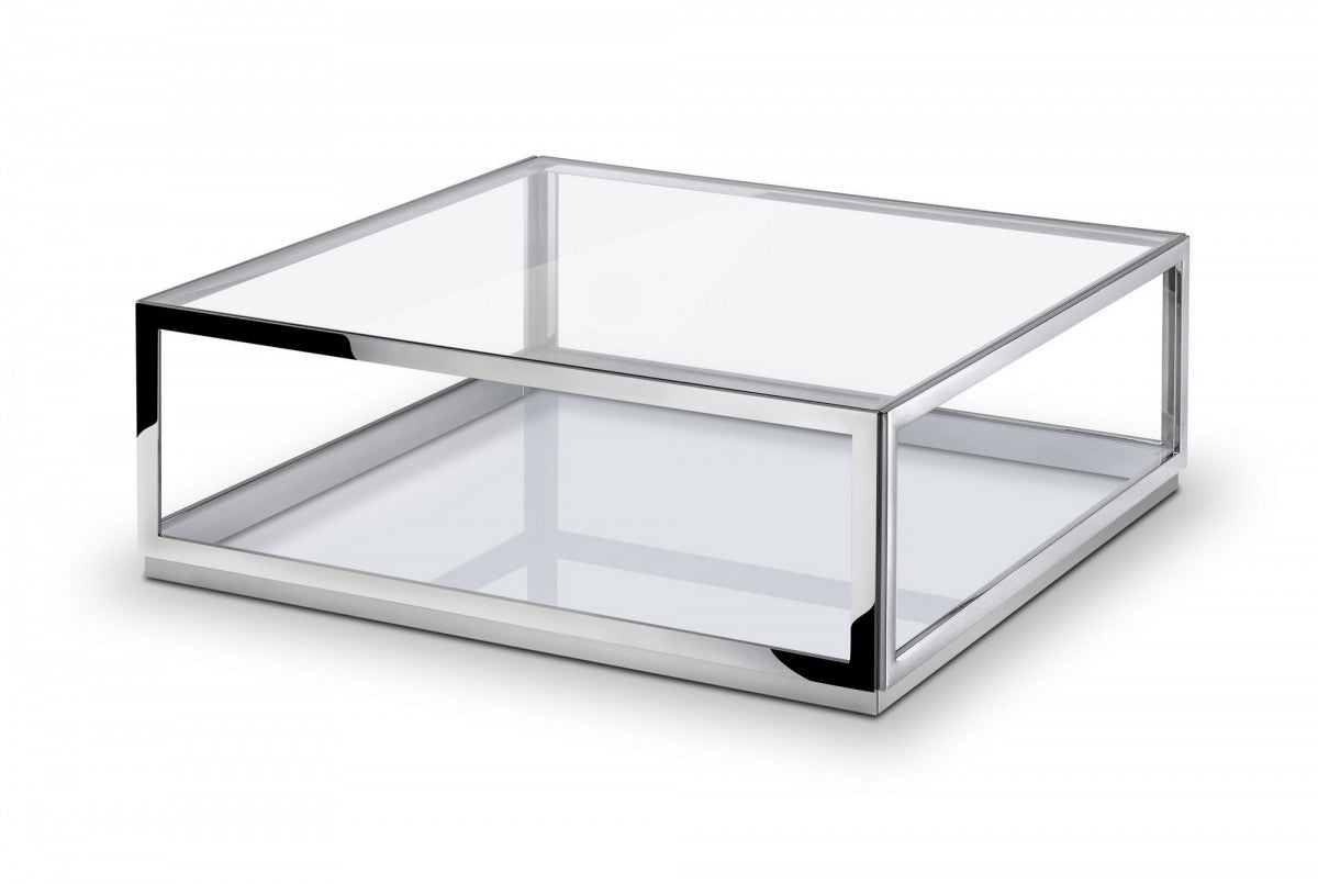 Modrest Weller - Modern Stainless Steel Coffee Table