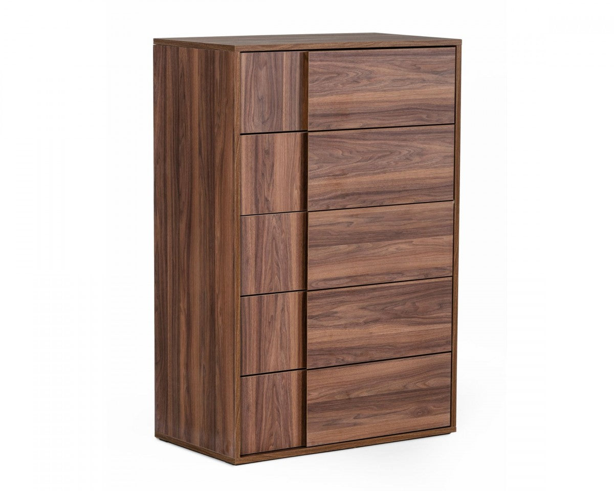 Nova Domus Asus - Italian Modern Walnut Chest