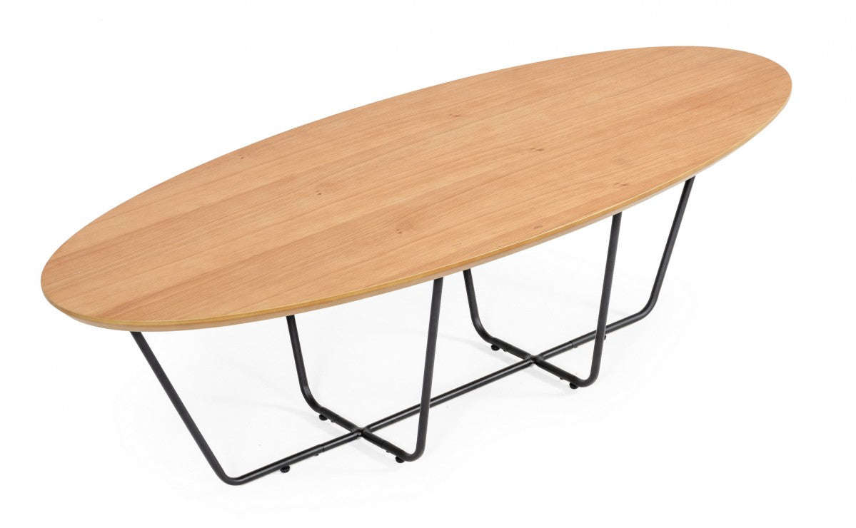 Modrest Esther - Industrial Large Oak Coffee Table