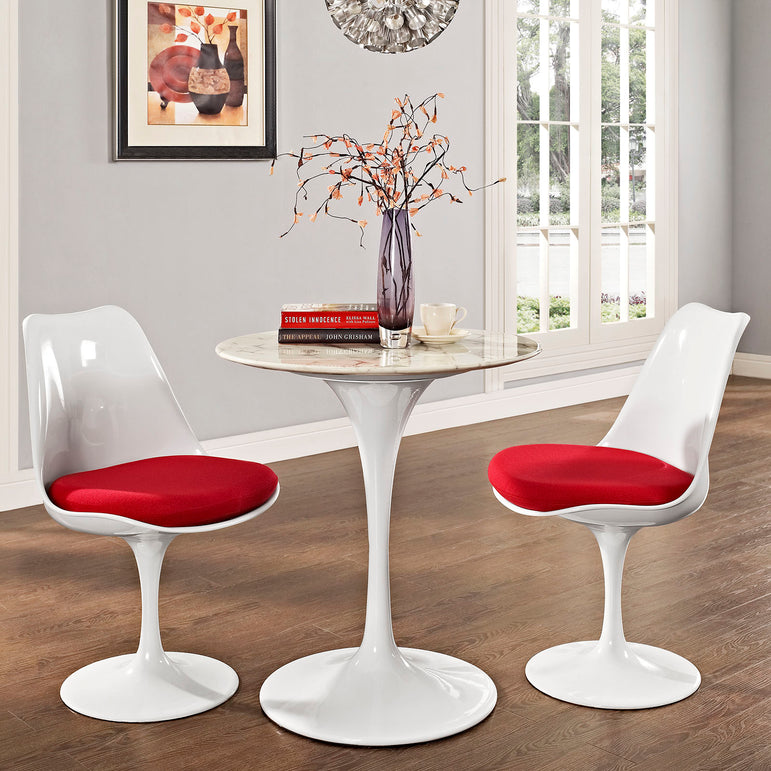 "Lippa 28"" Round Artificial Marble Dining Table"
