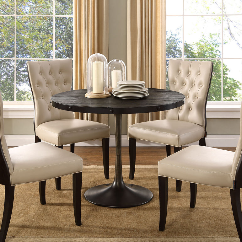"Drive 40"" Round Wood Top Dining Table"