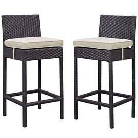 Lift Bar Stool Outdoor Patio Set of 2