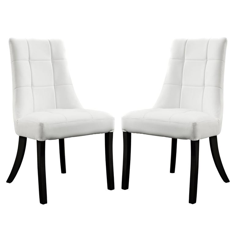 Noblesse Vinyl Dining Chair Set of 2