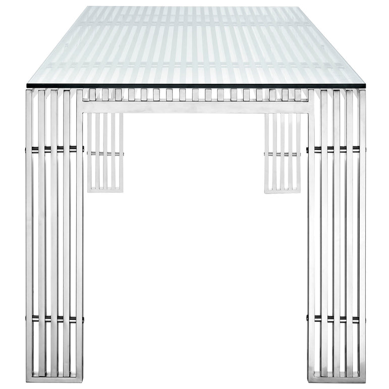 Gridiron Stainless Steel Rectangle Dining Table