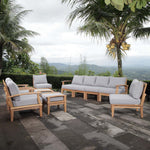 Marina 10 Piece Outdoor Patio Teak Set