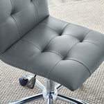 Ripple Armless Mid Back Vinyl Office Chair