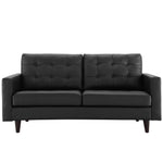 Empress Bonded Leather Loveseat