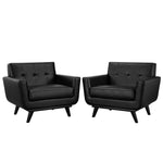 Engage Leather Sofa Set