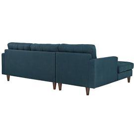 Empress Left-Facing Upholstered Fabric Sectional Sofa