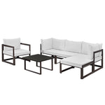 Fortuna 6 Piece Outdoor Patio Sectional Sofa Set