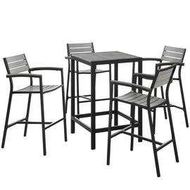 Maine 5 Piece Outdoor Patio Bar Set