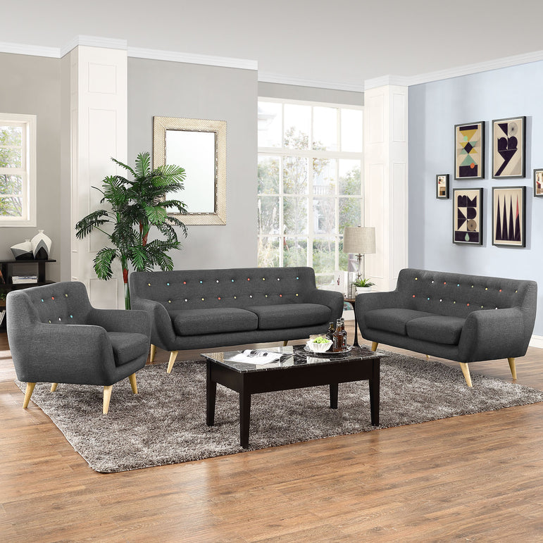 Remark 3 Piece Living Room Set