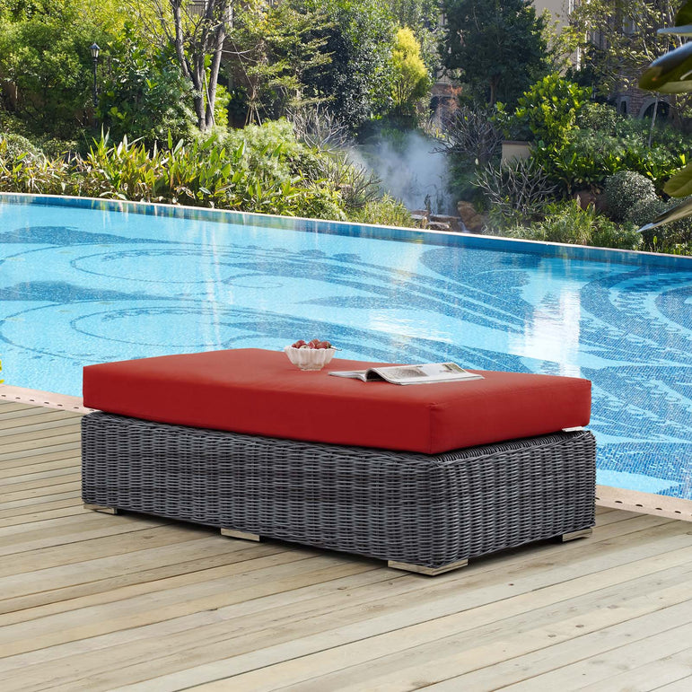 Summon Outdoor Patio Sunbrella® Rectangle Ottoman