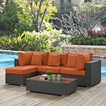 Sojourn 5 Piece Outdoor Patio Sunbrella® Sectional Set
