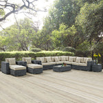 Summon 11 Piece Outdoor Patio Sunbrella® Sectional Set