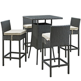 Sojourn 5 Piece Outdoor Patio Sunbrella® Pub Set
