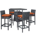 Summon 5 Piece Outdoor Patio Sunbrella® Pub Set