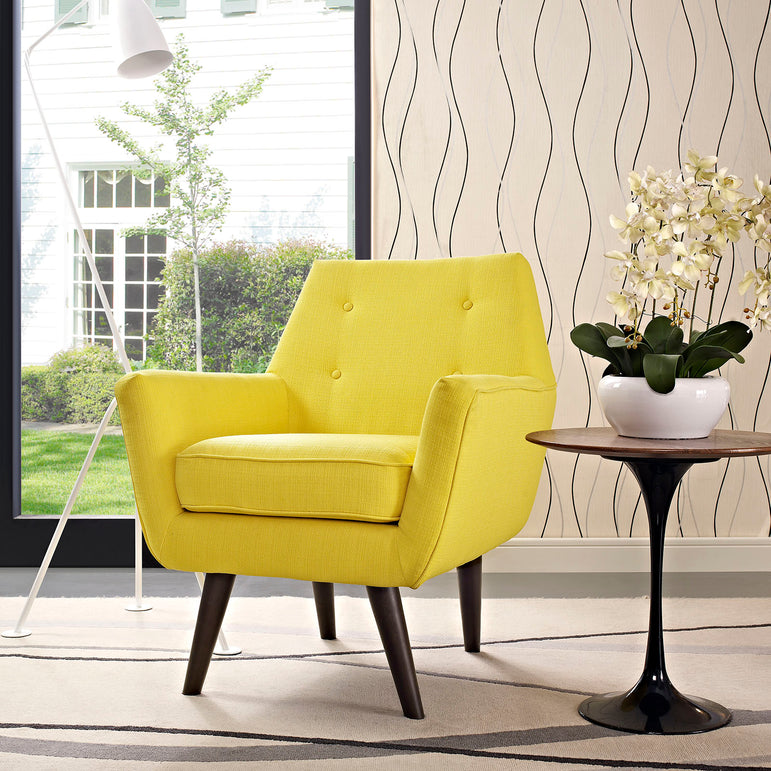 Posit Upholstered Fabric Armchair