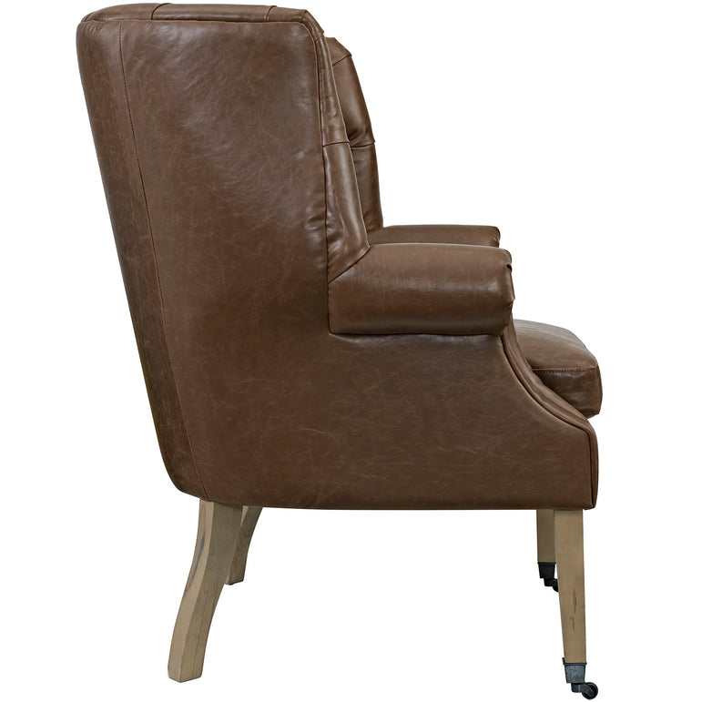 Chart Upholstered Vinyl Lounge Chair