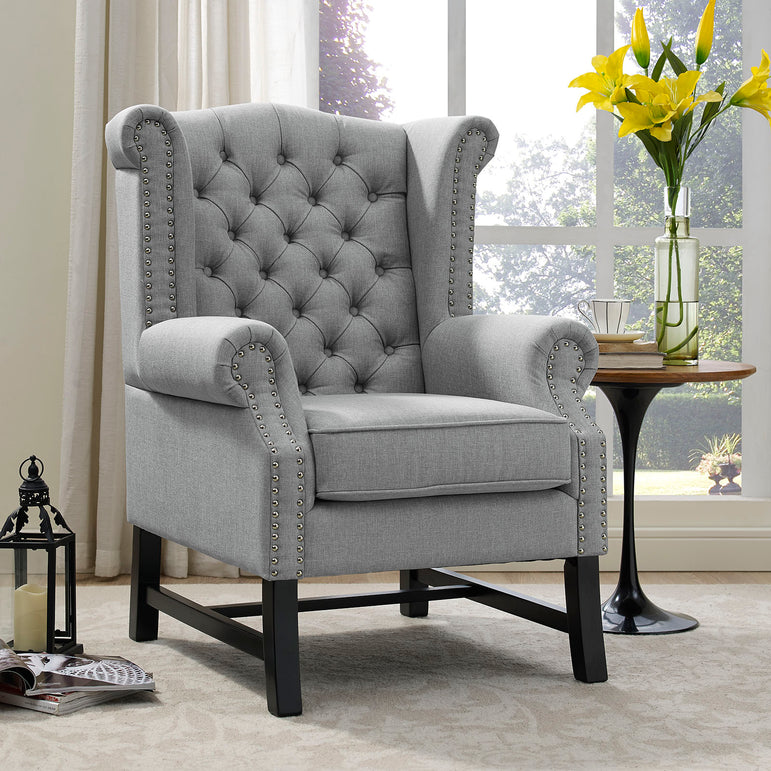 Steer Upholstered Fabric Armchair