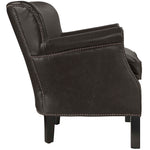 Key Upholstered Vinyl Armchair