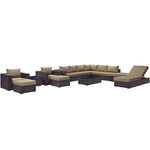 Convene 12 Piece Outdoor Patio Sectional Set