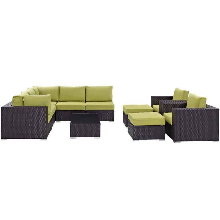 Convene 10 Piece Outdoor Patio Sectional Set