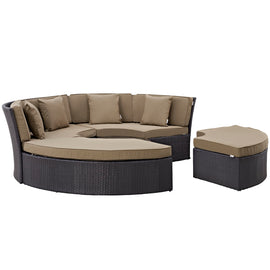 Convene Circular Outdoor Patio Daybed Set