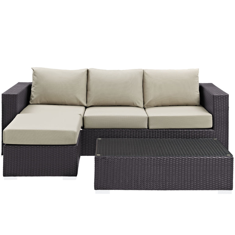 Convene 3 Piece Outdoor Patio Sofa Set