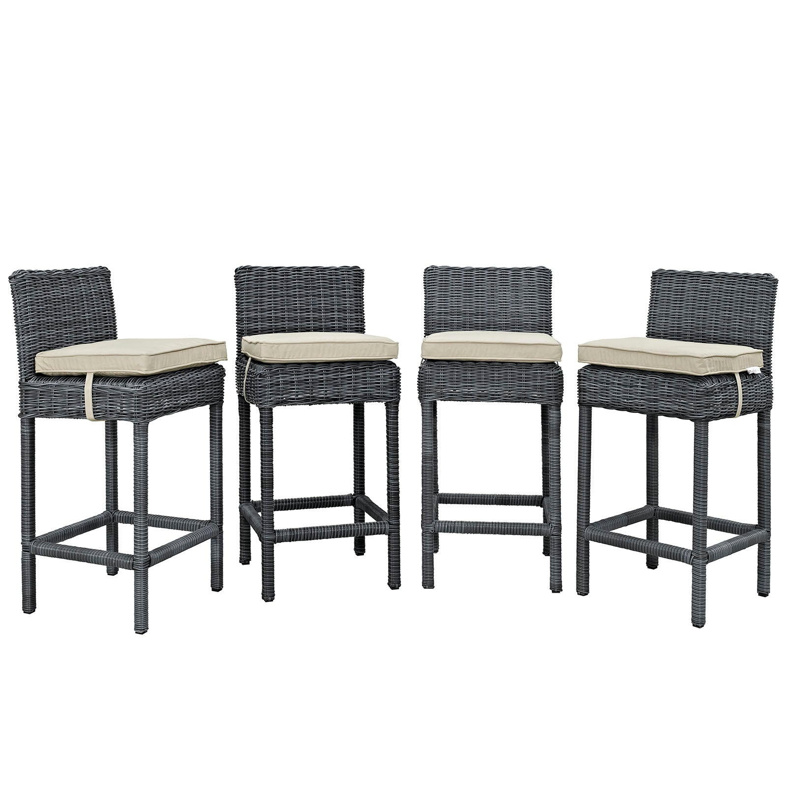 Summon Bar Stool Outdoor Patio Sunbrella® Set of 4