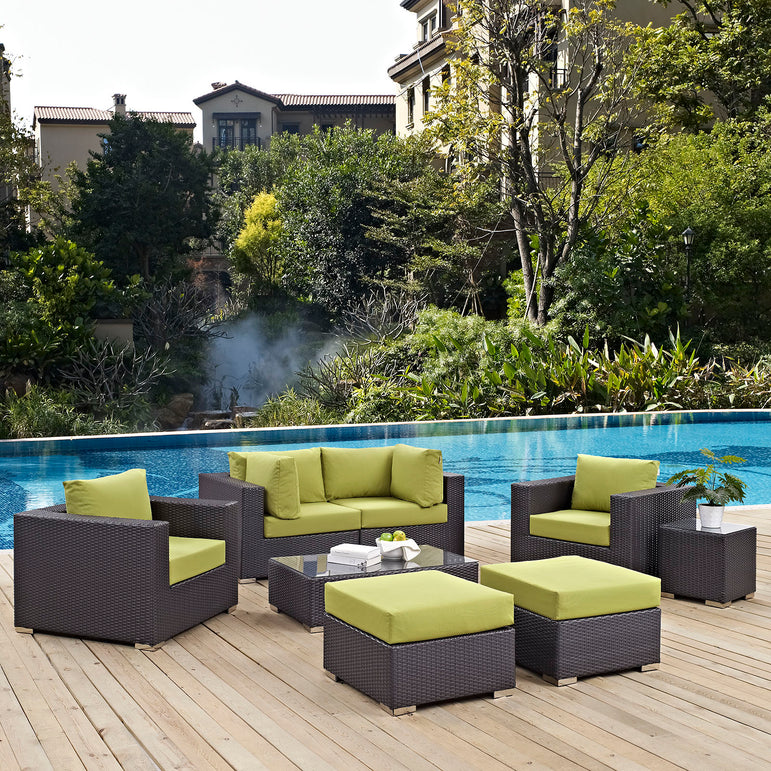 Convene 8 Piece Outdoor Patio Sectional Set