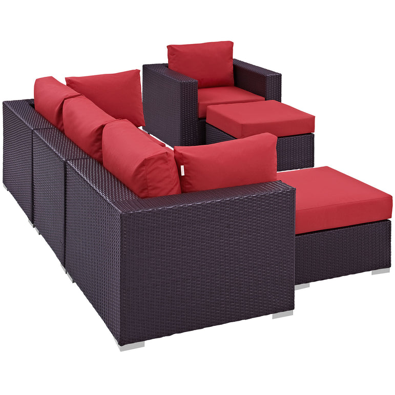 Convene 6 Piece Outdoor Patio Sectional Set