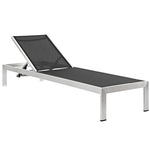 Shore Outdoor Patio Aluminum Mesh Chaise