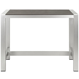 Shore Outdoor Patio Aluminum Rectangle Bar Table