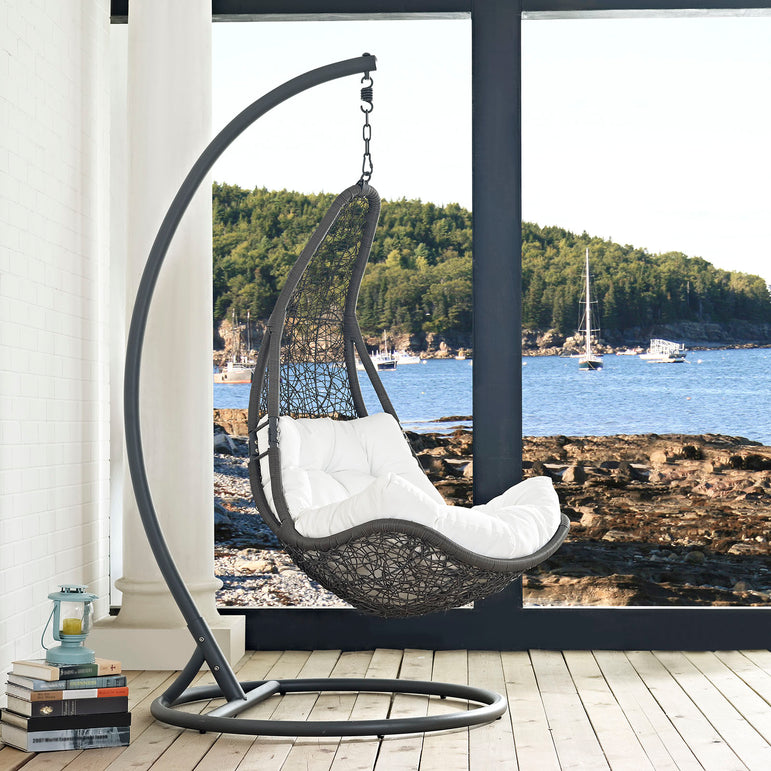 Abate Outdoor Patio Swing Chair With Stand