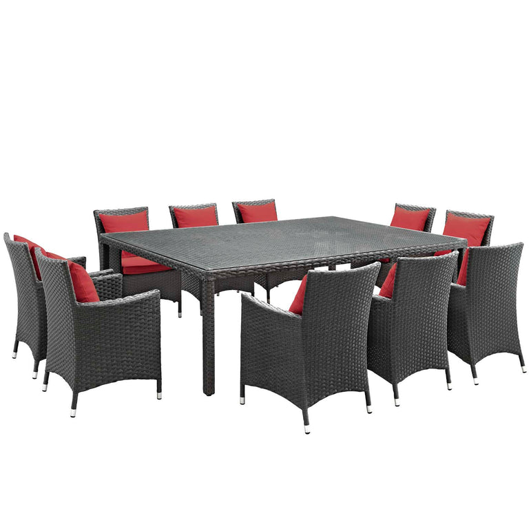 Sojourn 11 Piece Outdoor Patio Sunbrella® Dining Set