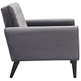 Delve Performance Velvet Armchair