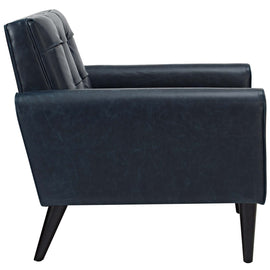 Delve Upholstered Vinyl Accent Chair