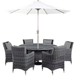 Summon 8 Piece Outdoor Patio Sunbrella® Dining Set