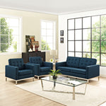 Loft Living Room Set Upholstered Fabric Set of 3