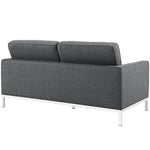Loft 2 Piece Upholstered Fabric Sofa and Loveseat Set