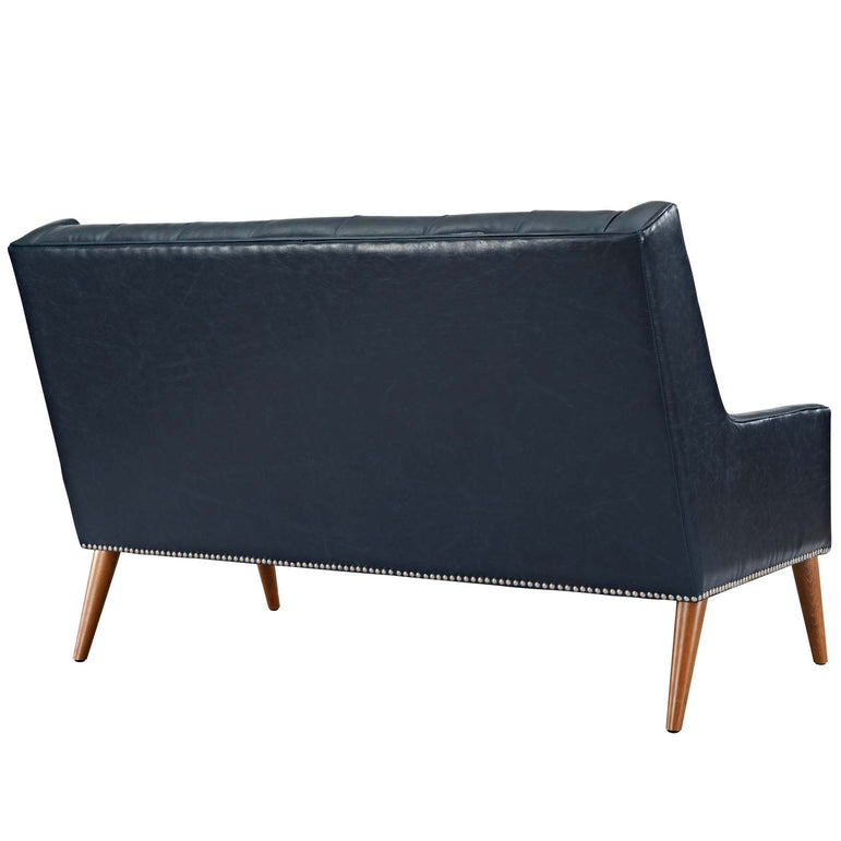 Peruse Upholstered Vinyl Loveseat