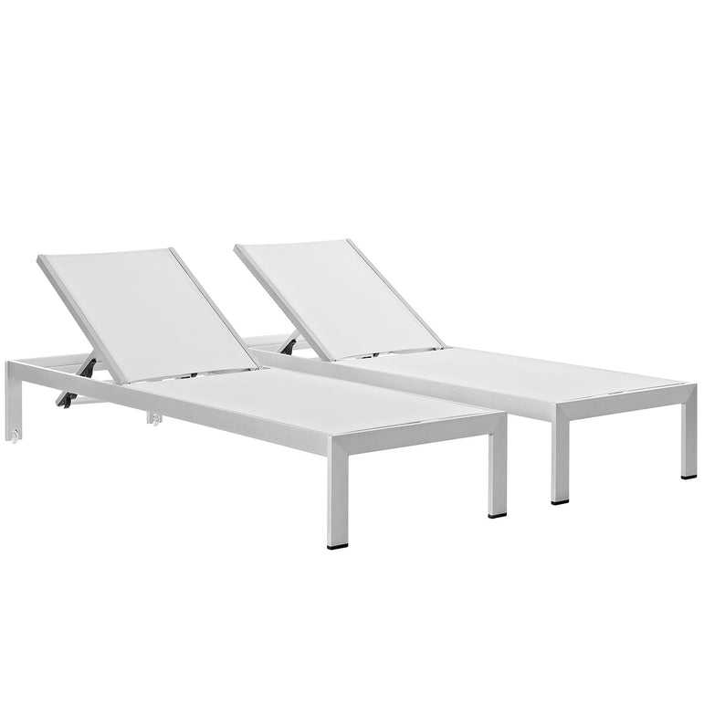 Shore Chaise Outdoor Patio Aluminum Set of 2