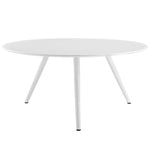 "Lippa 60"" Round Wood Top Dining Table with Tripod Base"