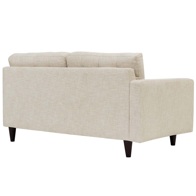 Empress Left-Facing Upholstered Fabric Loveseat
